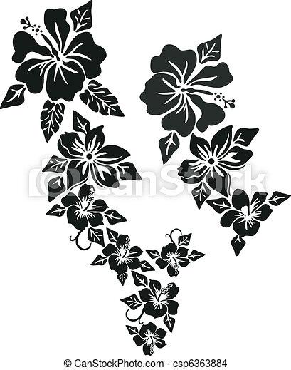 Tropische Blumenkleidung - csp6363884