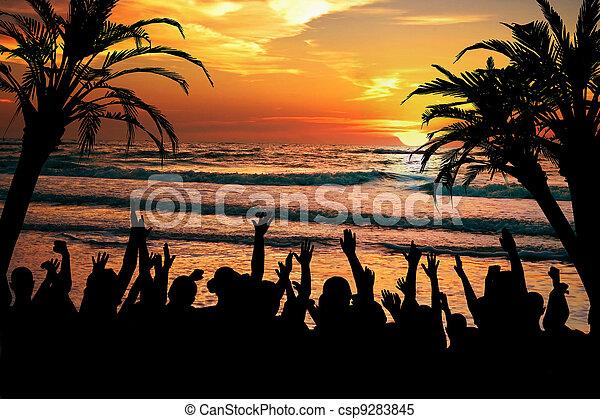 tropische , feestje, strand - csp9283845