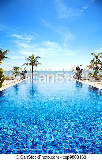 tropische , pool, zwemmen - csp9803163