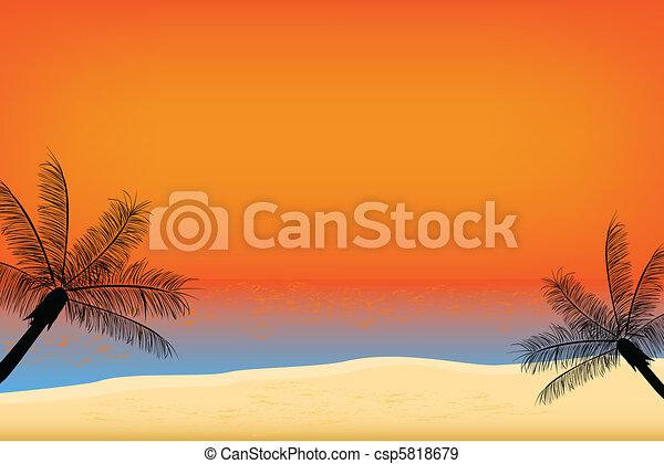 Tropischer Sonnenuntergang - csp5818679