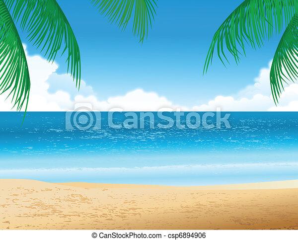 tropischer strand - csp6894906