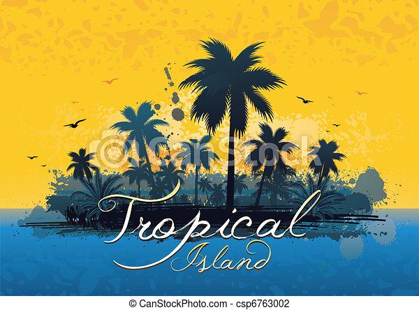 tropisk ö - csp6763002