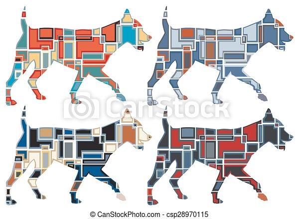 Trotando mosaicos de perro - csp28970115