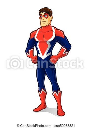 trots, superhero, vriendelijk - csp50988821