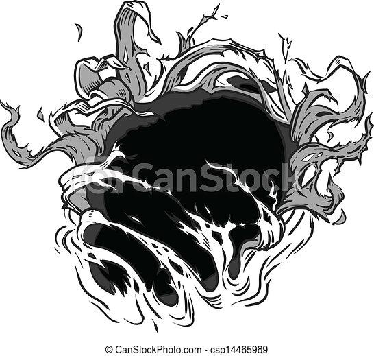 trou, déchirer, fond, vecteur - csp14465989