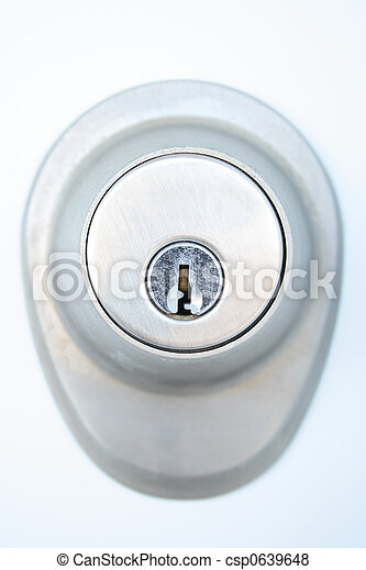 trou de la serrure, serrure, porte, métallique - csp0639648