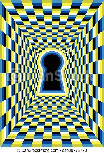 Trou Illusion Optique Tunnel Hole Résumé Illusion Optique