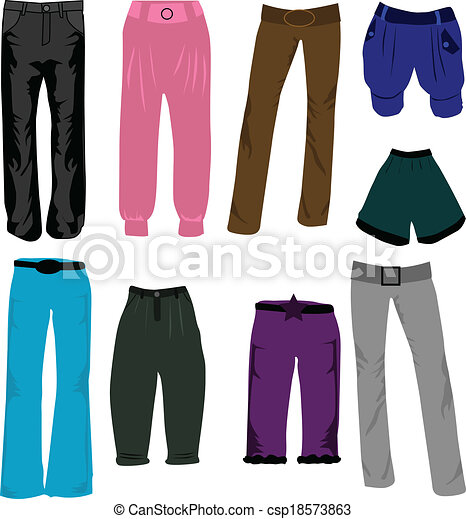 trousers icons vector - csp18573863