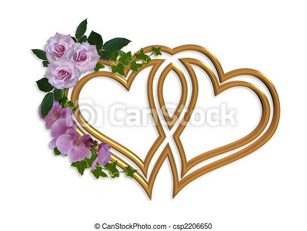trouwfeest, ontwerp, uitnodiging - csp2206650
