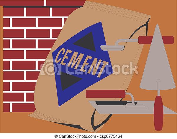 Trovels und Zement - csp6775464