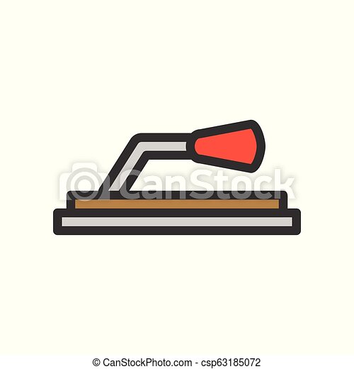 Trowel, Filled outline icon, handyman tool and equipment set - csp63185072