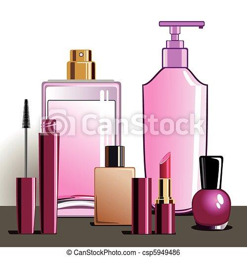 trucco, prodotti, bellezza - csp5949486