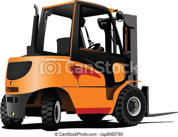 truck., ascensore, vettore, illus, forklift. - csp8363760
