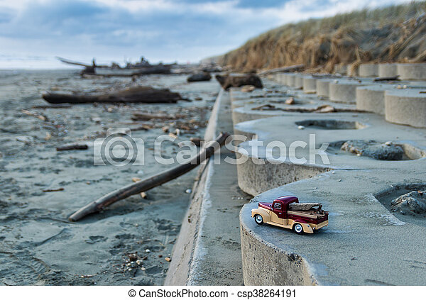 Truck Beach Wood - csp38264191