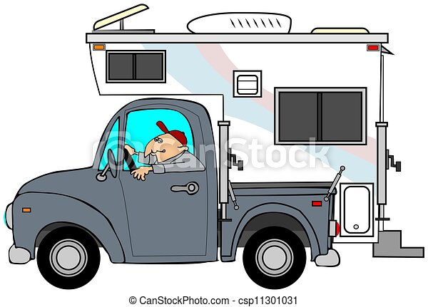 Camper Clip Art And Stock Illustrations 5830 EPS