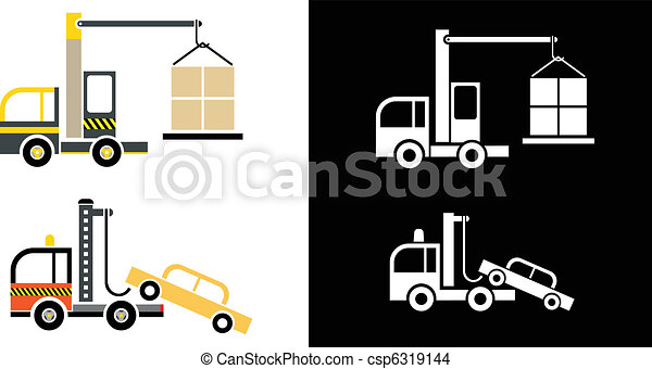 Truck Crane and Tow Truck - csp6319144