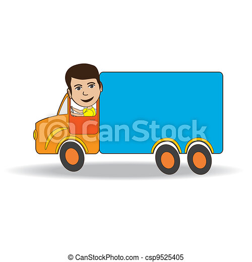 truck-driver. illustration of a truck driver isolated in clipart