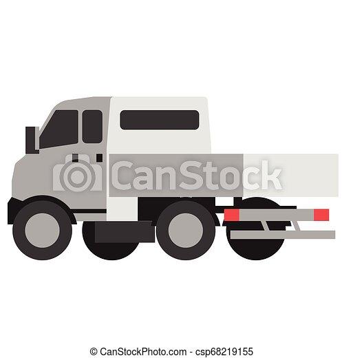 Truck flat illustration - csp68219155