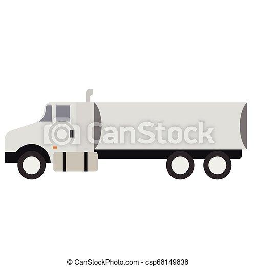 Truck flat illustration - csp68149838