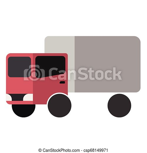 Truck flat illustration - csp68149971