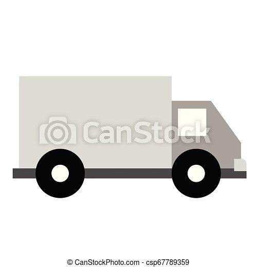 Truck flat illustration on white - csp67789359