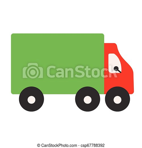 Truck flat illustration on white - csp67788392