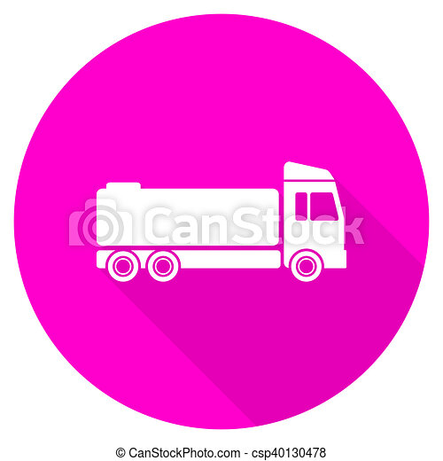 truck flat pink icon - csp40130478
