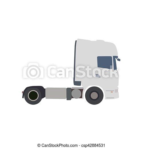 Truck flat vector illustration - csp42884531