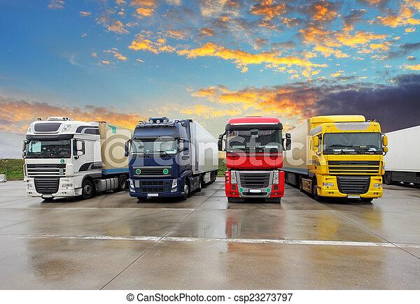 Truck - Freight transportation - csp23273797