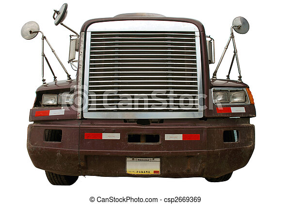 Truck front isolated on white - csp2669369