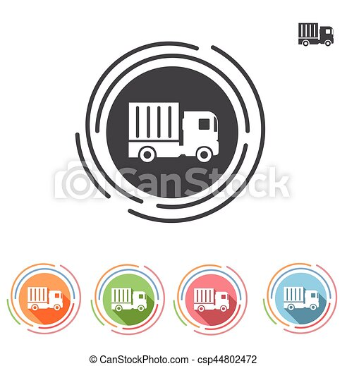 Truck icon in a flat style - csp44802472