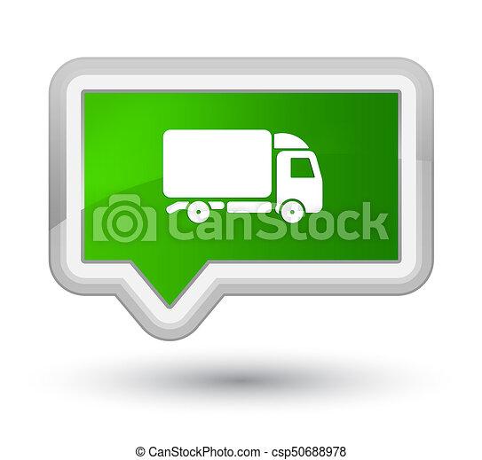 Truck icon prime green banner button - csp50688978