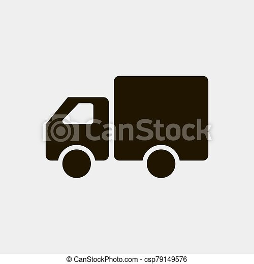 Truck icon vector illustration isolated on white background - csp79149576