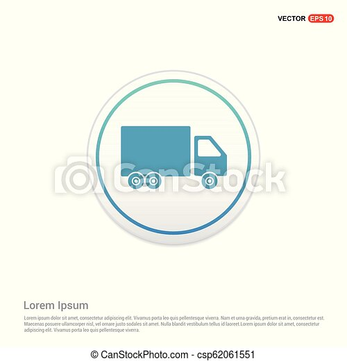 Truck icon - white circle button - csp62061551