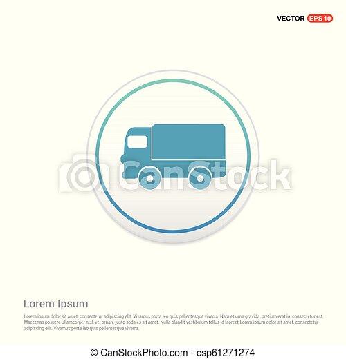Truck icon - white circle button - csp61271274