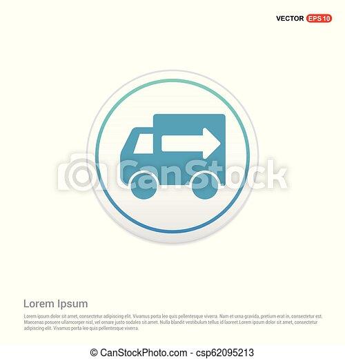 Truck icon - white circle button - csp62095213