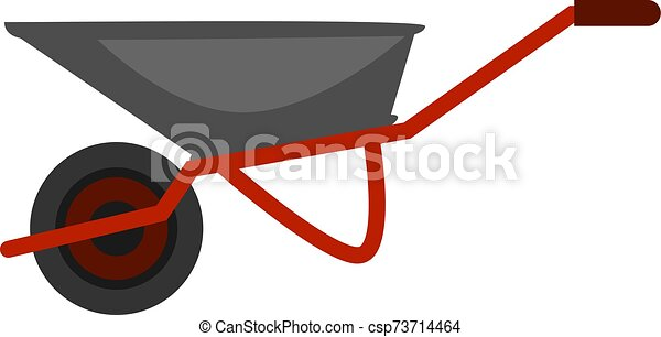 Truck, illustration, vector on white background. - csp73714464
