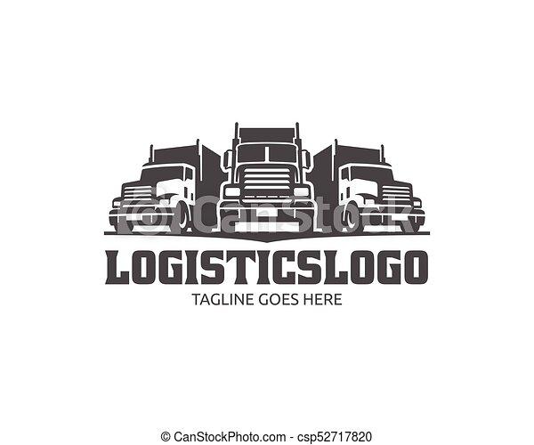 A template of truck logo, cargo logo, delivery cargo ...