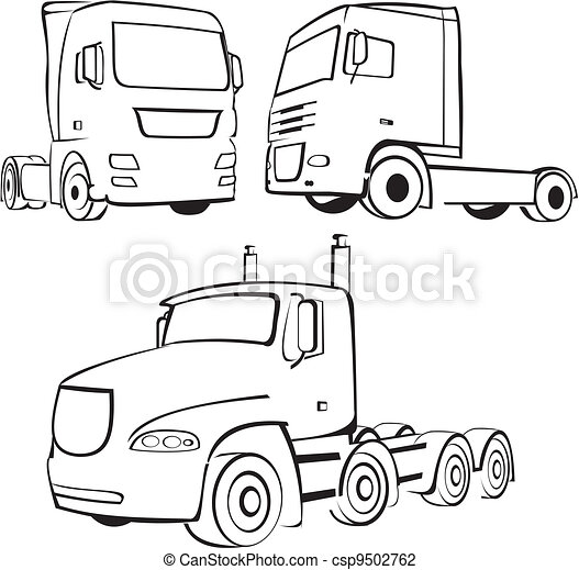 truck, lorry - icon - csp9502762