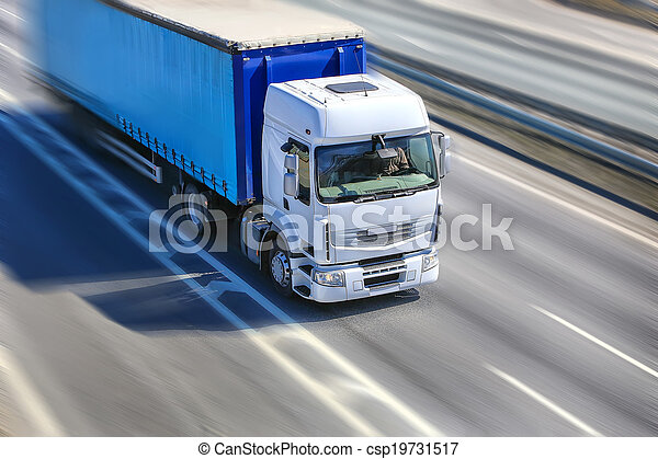 truck moves on highway - csp19731517