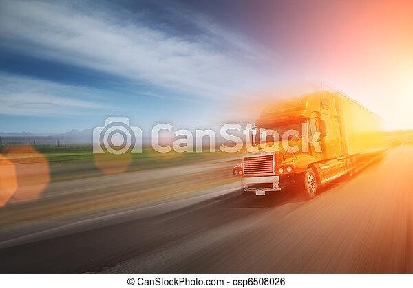 Truck on freeway - csp6508026