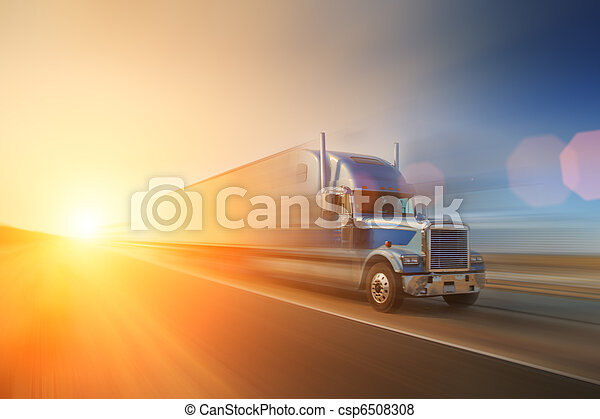 Truck on highway - csp6508308