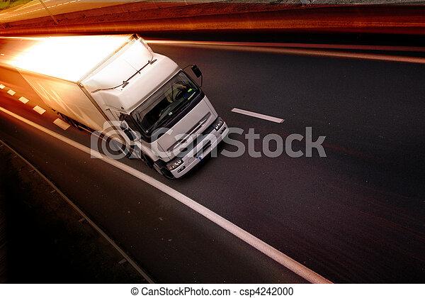 truck on highway - csp4242000