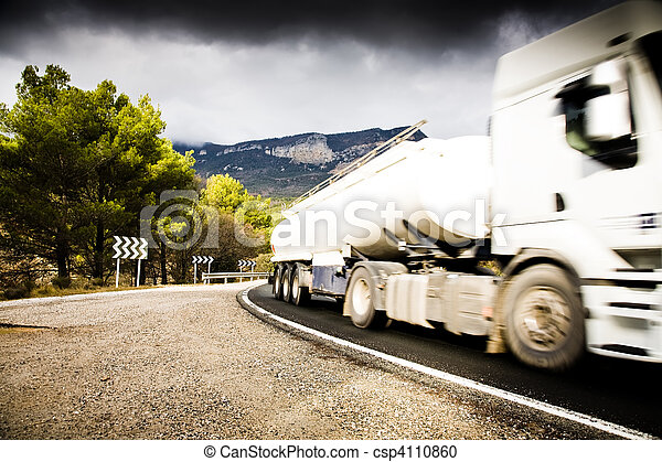 Truck On The Road - csp4110860