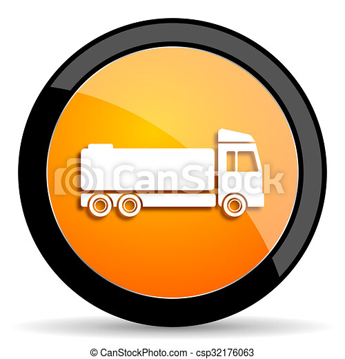 truck orange icon - csp32176063