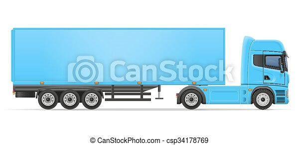 truck semi trailer vector illustration - csp34178769