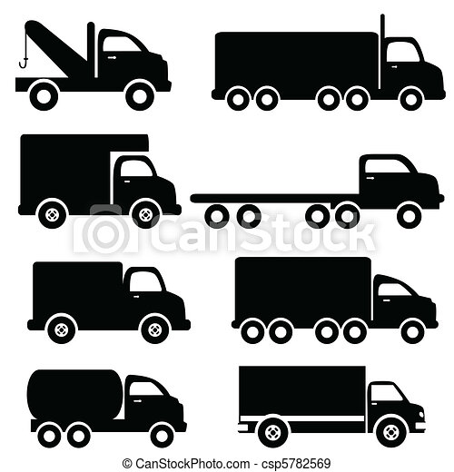 Truck silhouettes - csp5782569