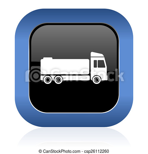 truck square glossy icon cargo sign - csp26112260