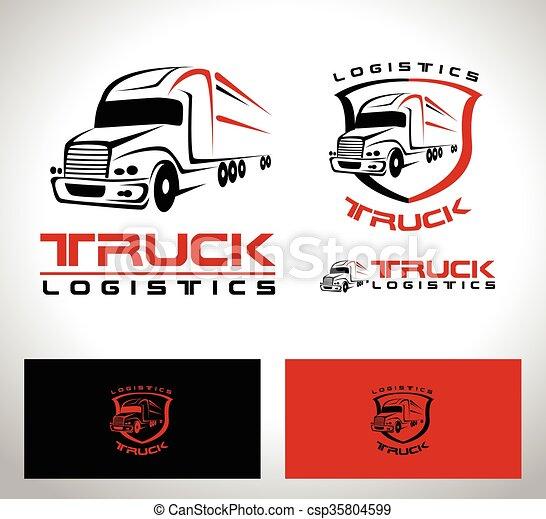 truck trailer logo transportation truck logo vector design truck