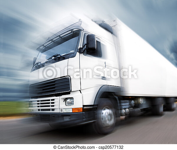 truck transport and speed - csp20577132